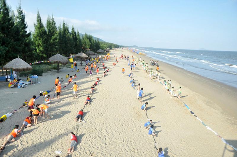 Bãi biển Hải Tiến.