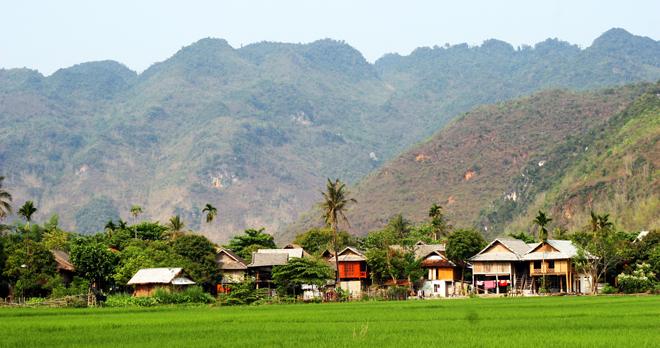 Bản Lác là bản du lịch đẹp nhất ở Mai Châu.
