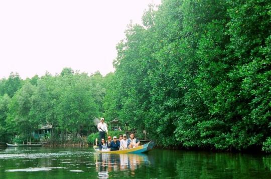 Bạn có thể đi thuyền để tham quan khu du lịch Vàm Sát - Ảnh: diadiembamien.com
