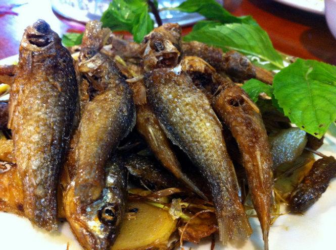 Món cá suối rán giòn