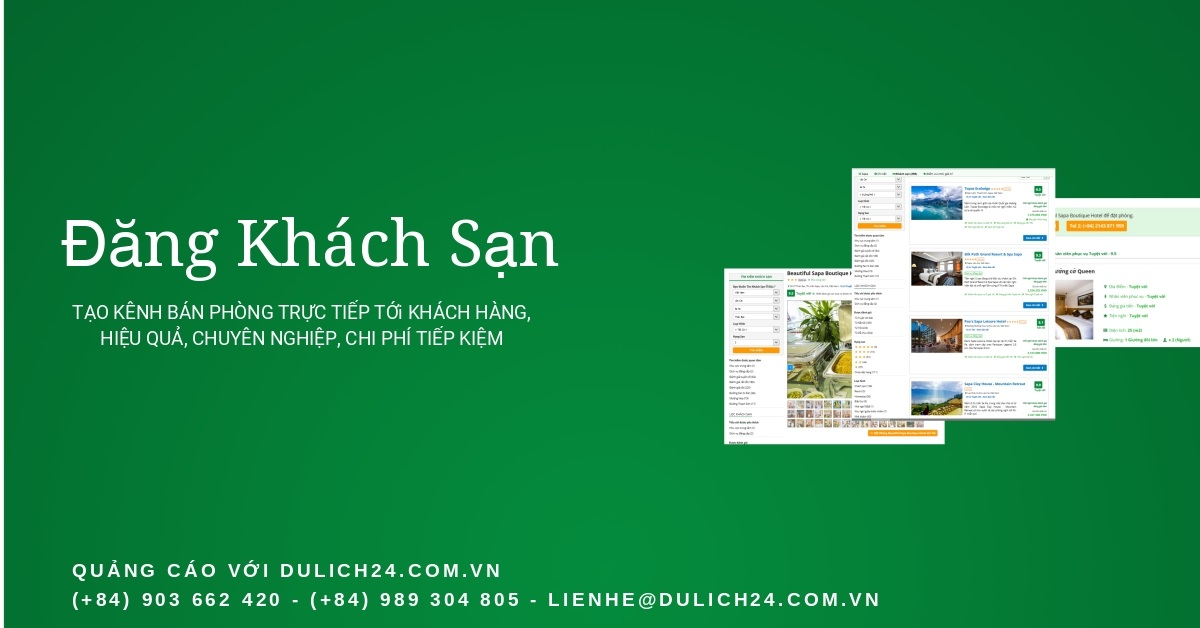 Đăng khách sạn, bán phòng trực tiếp