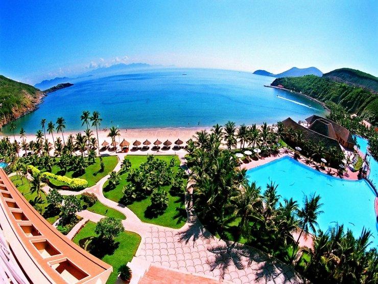 Vẻ đẹp từ trên cao tại một khu resort Nha Trang