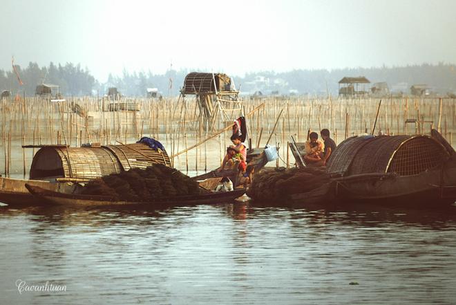 Giống nhiều làng chài khác, ngoài là phương tiện đánh bắt, những chiếc thuyền còn là nơi cư ngụ của nhiều hộ gia đình. Cuộc sống của họ gắn chặt với những con thuyền, quanh năm lênh đênh trên mặt nước.