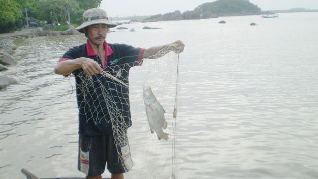 Anh Nguyễn Văn Tùng đánh bắt cá chẽm ở Hòn Đá Bạc, Cà Mau
