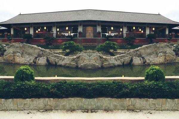 Quang cảnh nhà hàng cá hồi 64 nhìn từ bên ngoài