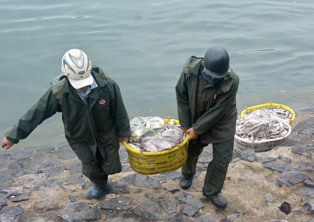 Những thùng hải sản chuẩn bị cho bán rong