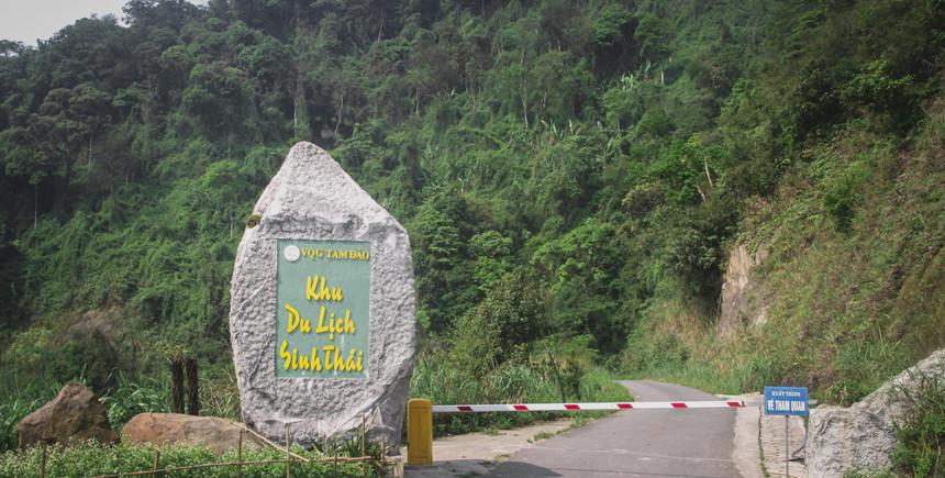 Chốt kiểm lâm bán vé vào Khu du lịch sinh thái - Vườn Quốc Gia Tam Đảo.