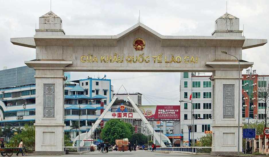 Cửa khẩu quốc tế Lào Cai.