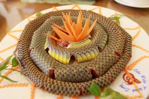 Món rắn ngày nay có nhiều trong các nhà hàng. Ảnh: Thudoanuong