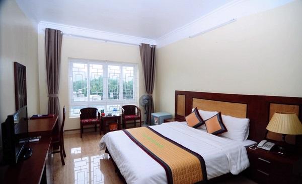 Phòng nghủ đặc trưng trong khách sạn ở Thị Trấn Mộc Châu.