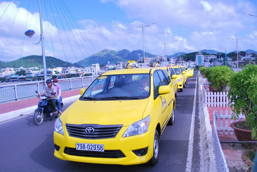 Airport taxi.