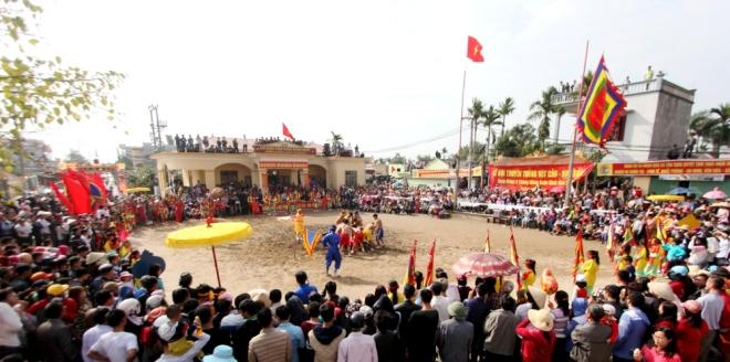 lễ hội vật cầu Kim Sơn