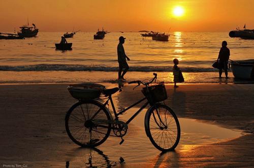 Biển Cửa Việt cách Cửa Tùng không xa với bãi tắm hoang sơ