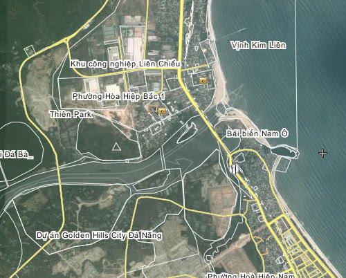 Bản đồ bãi biển Nam Ô