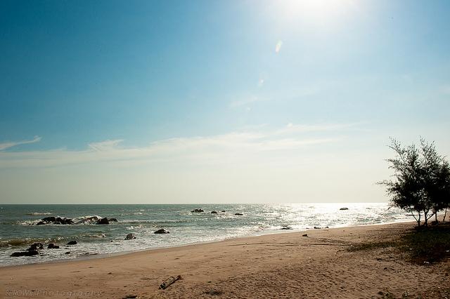 Bãi biển Hồ Tràm.