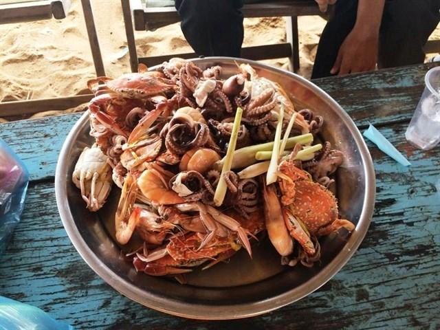 Hải sản tươi sống ở Long Hải.