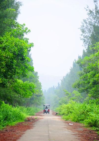 Đường du lịch trên đảo Ngọc Vừng (ảnh: N.Hùng, Ngọc Vừng)