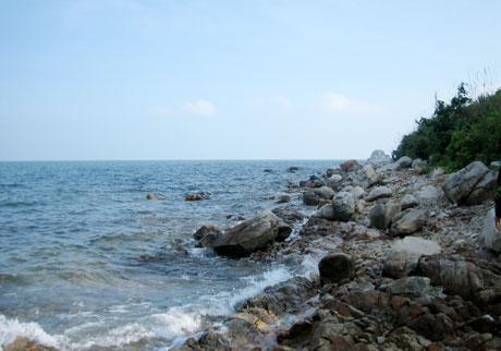 Ghềnh đá nơi có nhiều ốc biển.