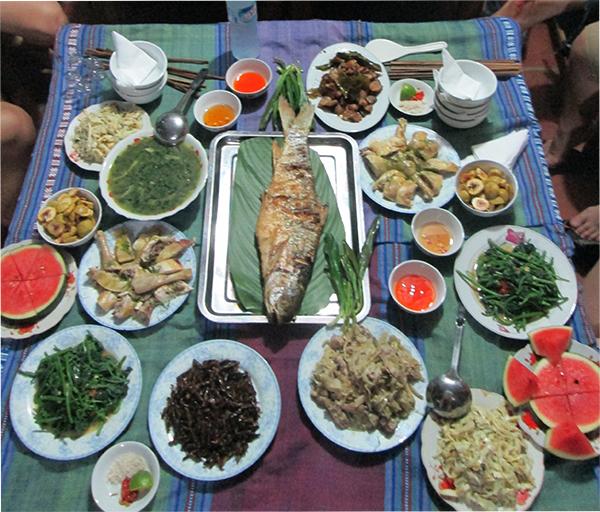 Thực đơn -suất ăn ở Mai Châu