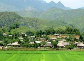 Bản Vàng Pheo có hơn 90 hộ với hơn 400 nhân khẩu, 100% đồng bào là người Thái trắng