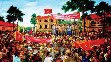 Mít tinh mừng Cách mạng Tháng Tám ở Long An.