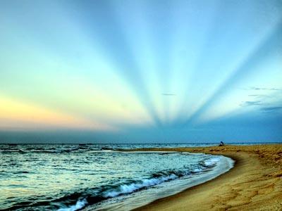 Lung linh bãi biển Nhật Lệ