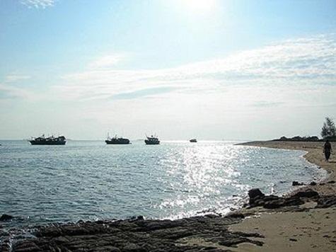 Trà Cổ là rìa bên ngoài của một đảo bồi tự nhiên