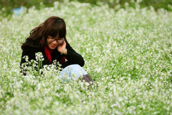 Đồi cải trắng - điểm chụp hình đẹp tại Mộc Châu.