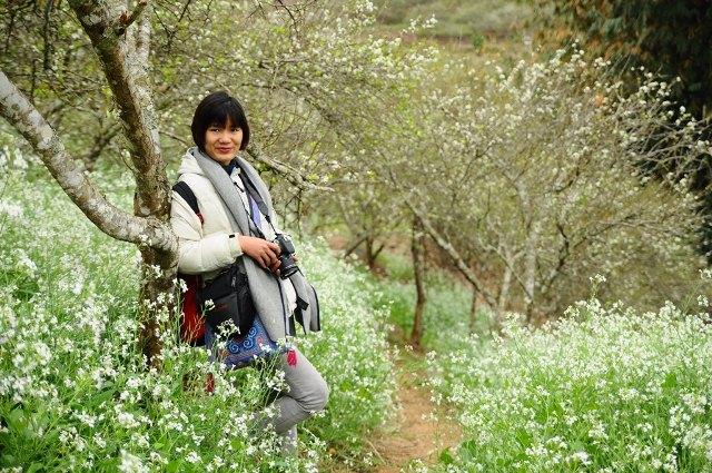 Vườn hoa mận trắng - điểm chụp hình đẹp tại Mộc Châu.