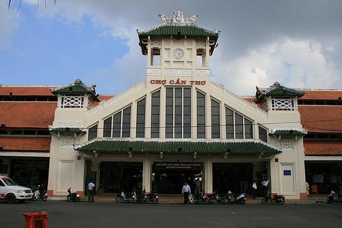Chợ Cần Thơ - Điểm du lịch Cần Thơ hấp dẫn.