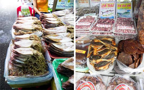 Những hải sản khô cũng vô cùng hấp dẫn du khách