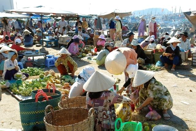 Một góc chợ Đông Hà