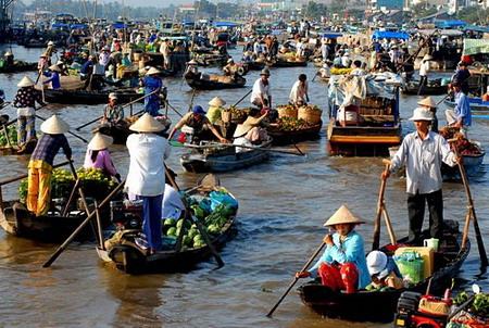 Chợ nổi Cái Rang - Điểm du lịch hấp dẫn nhất ở Cần Thơ.