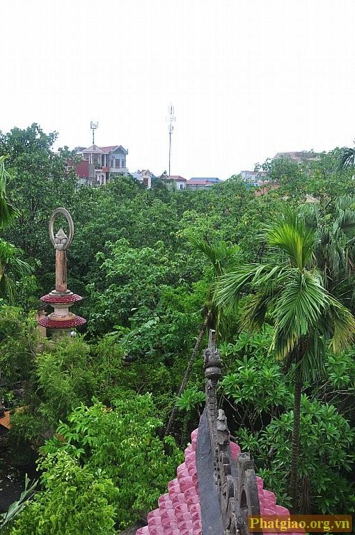 Đỉnh Tháp Tổ nhìn từ tháp chuông