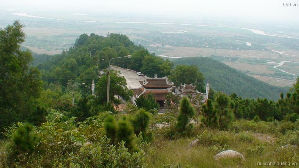 Đền Cao An Phụ nhìn từ trên cao
