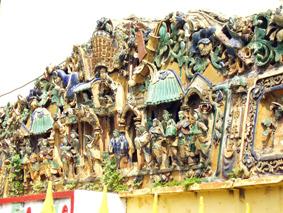 Phù điêu trang trí ở chùa Ông - Quảng Triệu Hội Quán.
