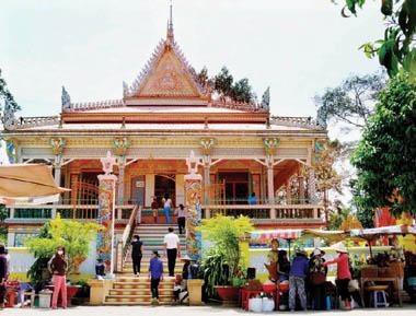 Ngôi chánh điện của chùa