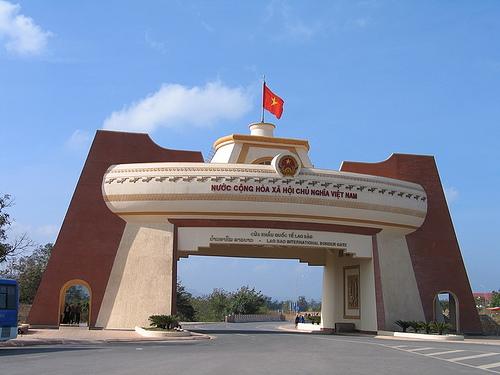 Cửa khẩu Lao Bảo phía bên Việt Nam