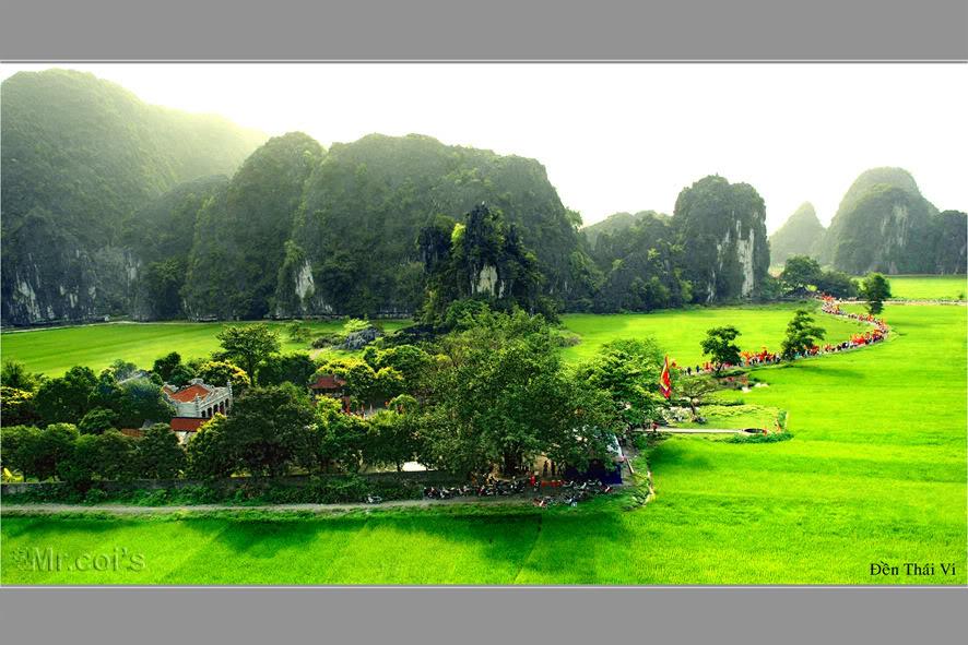 Con đường vào đền Thái Vi