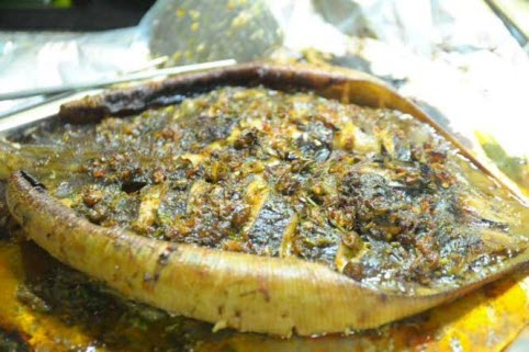 Món ngon Đồng Hới, Quảng Bình: Cá đuối nướng.