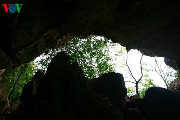"""Miệng rồng"""" nhìn từ phía trong hang"""