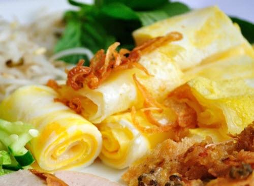 Bánh cuốn trứng - Đặc sản Hà Giang