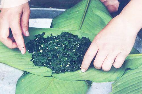 Rêu nướng  - Đặc sản Hà Giang