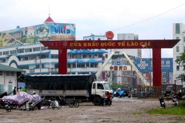Cửa khẩu Hà Khẩu chụp từ phía VN