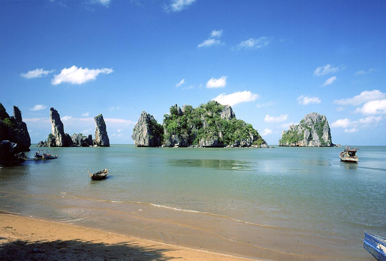 Phong cảnh Hà Tiên vào mùa khô