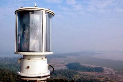 Ngoài đèn chính còn có đèn phụ để đề phòng khi đèn chính có sự cố thì Trạm hải đăng Cô Tô vẫn hoạt động bình thường – Ảnh: Baoquangninh.