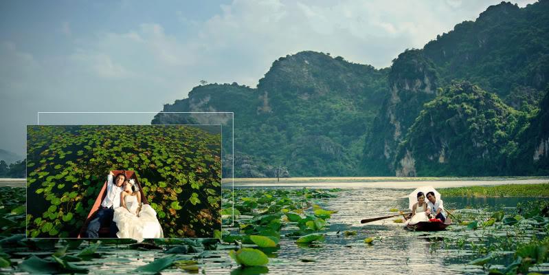 Du khách đi thuyền trên hồ