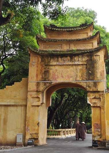 Một góc khuôn viên khu trung tâm Hoàng thành