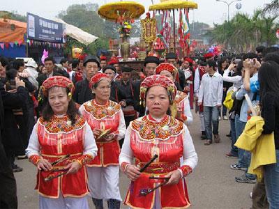 Hội Lim được mở đầu bằng lễ rước