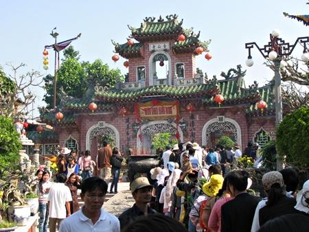 Khu vực cổng phụ của Hội Quán